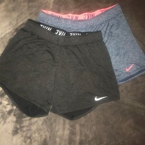 Two pair of Nike shorts